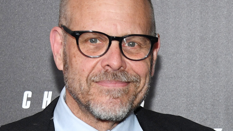 Alton Brown with glasses on