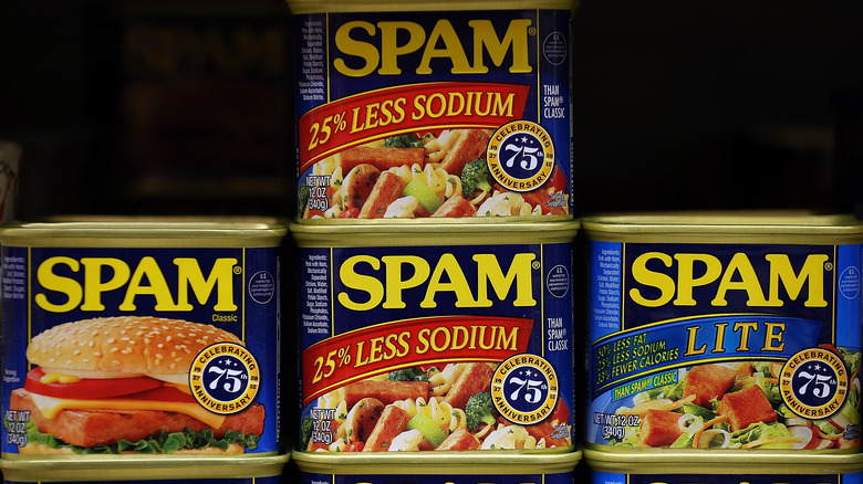 boxes of different spam