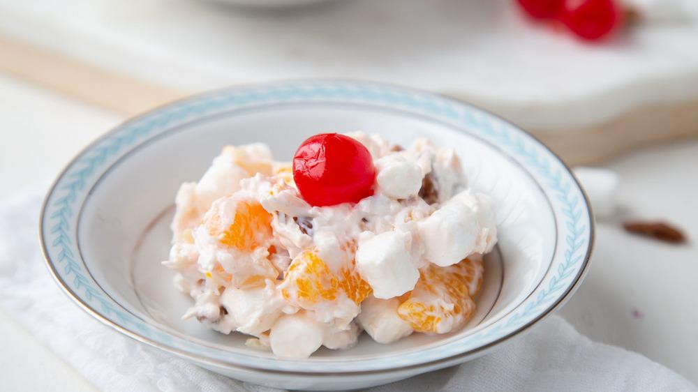 ambrosia recipe in a bowl