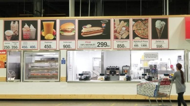 Iceland Costco foodcourt