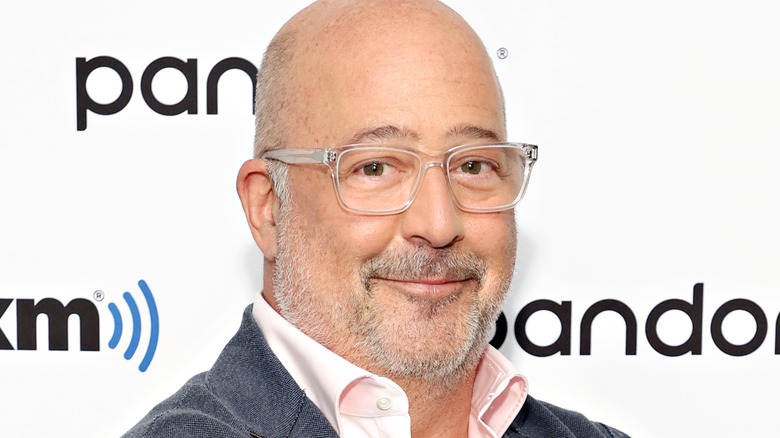 close up of Andrew Zimmern