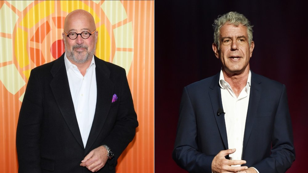 Andrew Zimmern and Anthony Bourdain