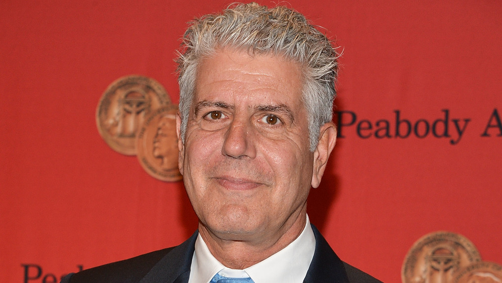 The late Anthony Bourdain smiling