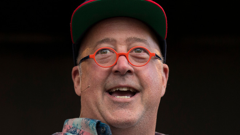 Andrew Zimmern talking at event