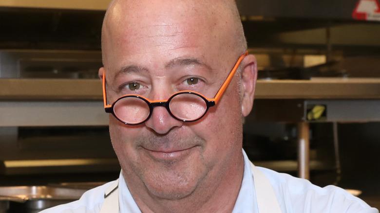 Andrew zimmern in kitchen