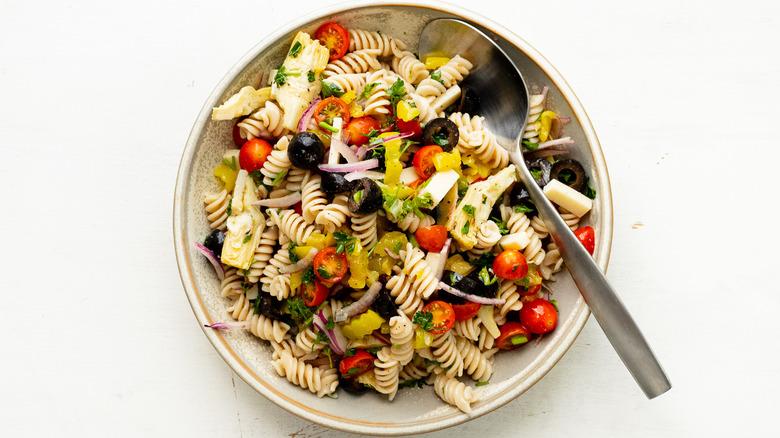 antipasto salad served