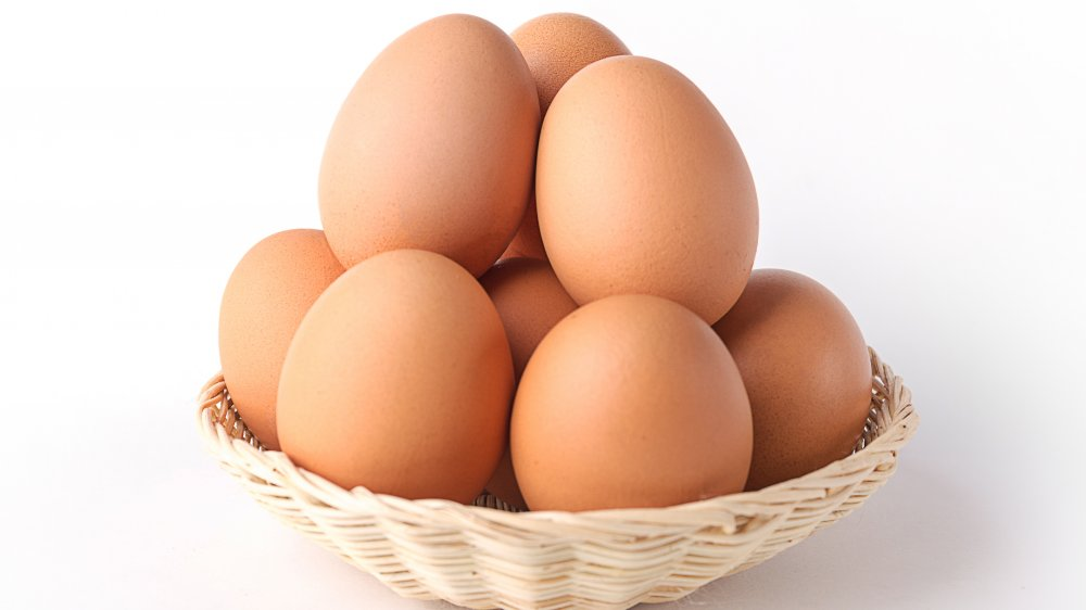 Chicken on eggs