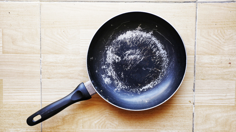 scratched up pan