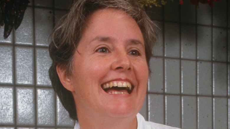 Alice Waters laughing