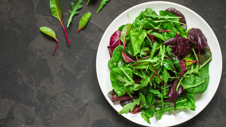 Blend of spinach and arugula