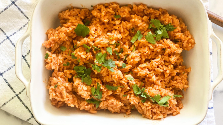 Authentic Mexican Rice Recipe in bowl