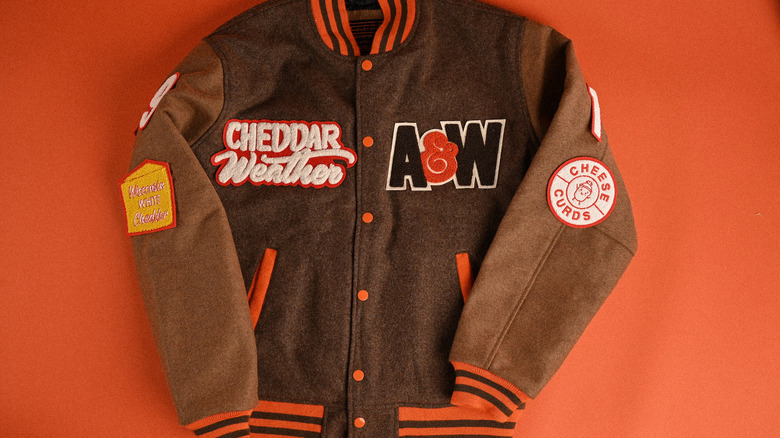 The A&W Cheddar Weather Letterman jacket