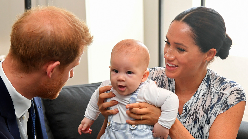 Meghan Markle holding baby Archie