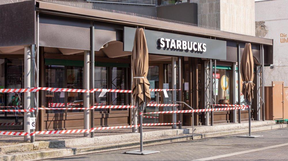 A closed Starbucks store