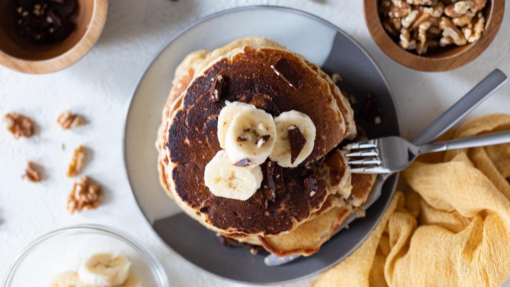 finished banana pancakes