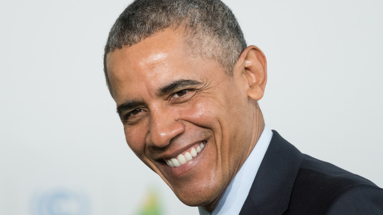 President Barack Obama smiling