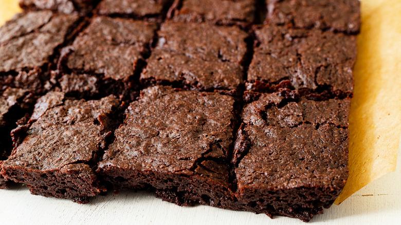 brownies cut up