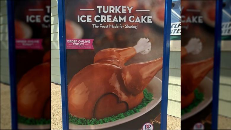 poster of Baskin Robbins turkey ice cream cake