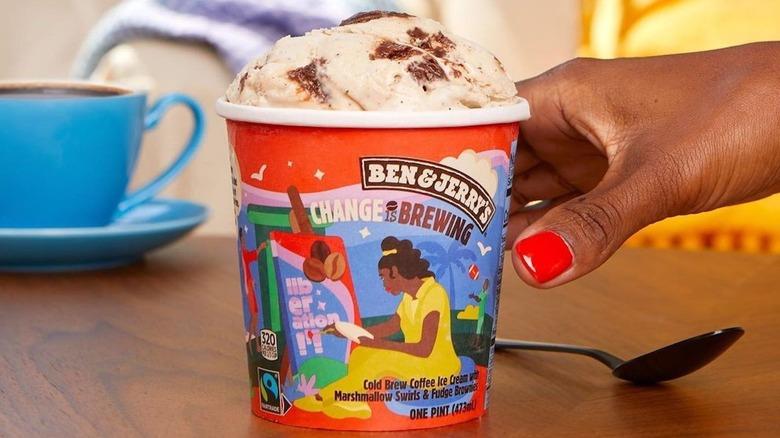 Ben & Jerry's Change is Brewing ice cream