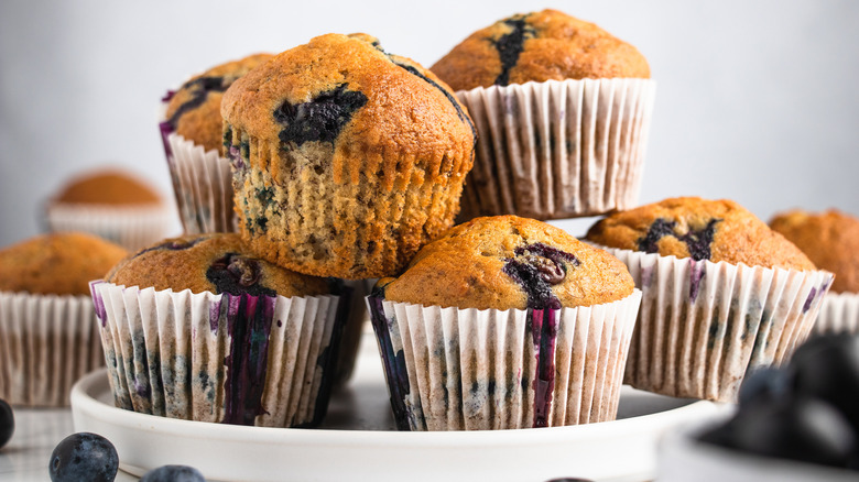 best banana blueberry muffins