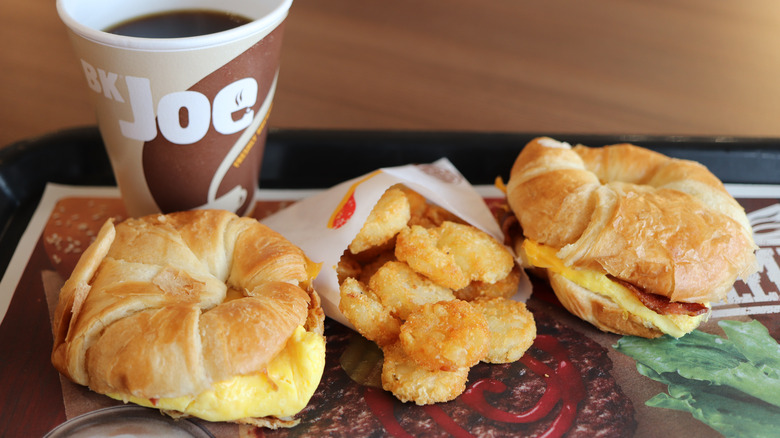 Croissant, Hash Browns and Coffee at a Burger King restaurant in Newnan, GA.