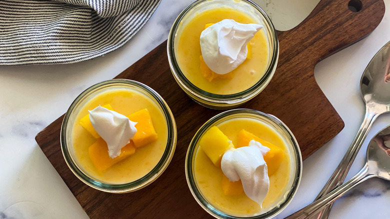 The Best Mango Pudding served in cups