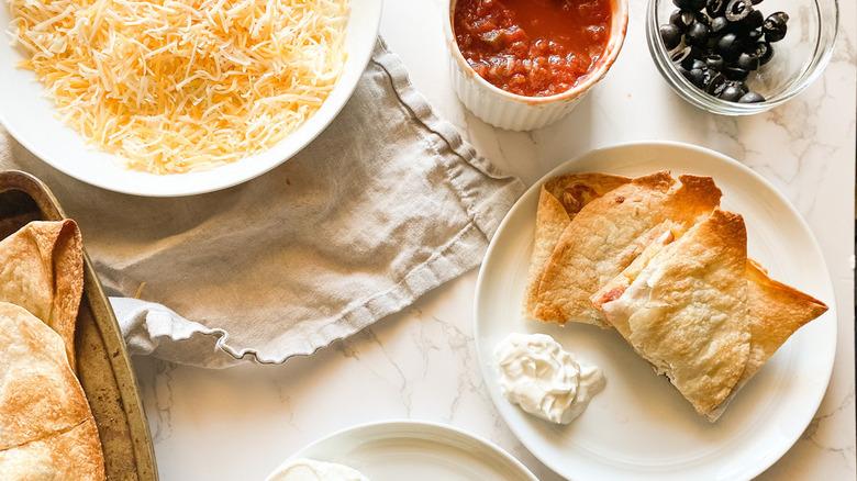sheet pan quesadilla