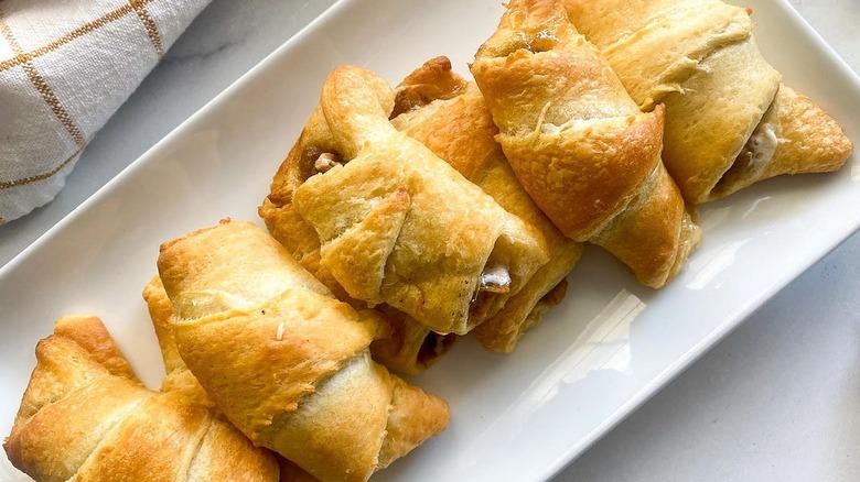 sweet potato croissants on plate