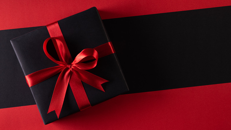 Black Friday written against a red background