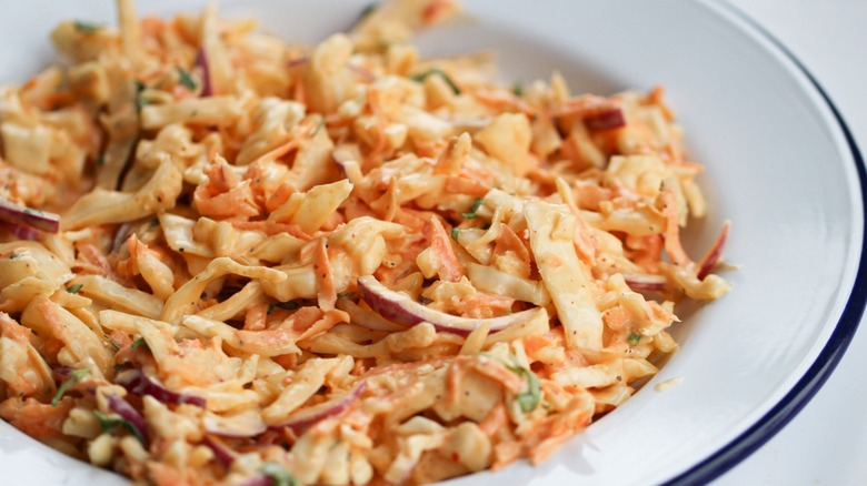 coleslaw in bowl