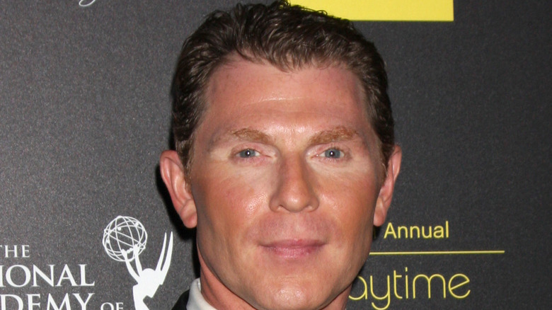 Bobby Flay looking serious at Daytime Emmy Awards