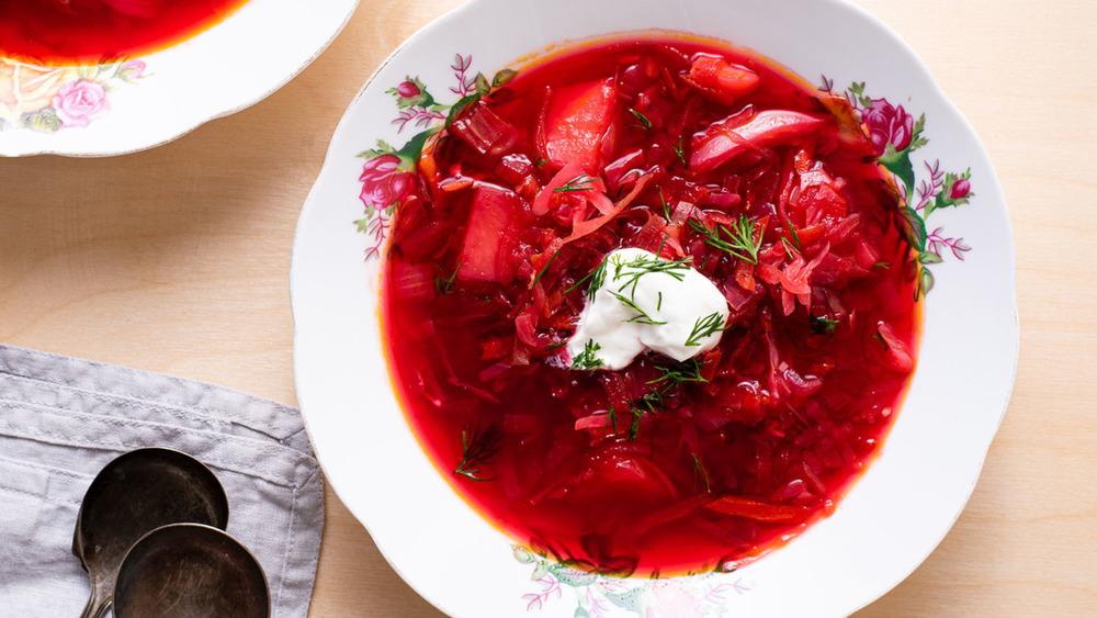 Bowl of borscht