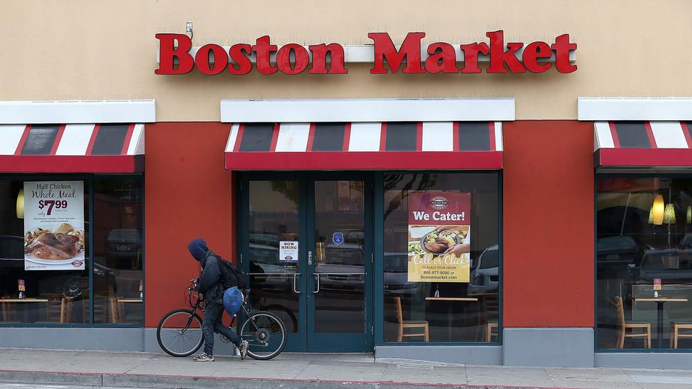 Outside of a Boston Market
