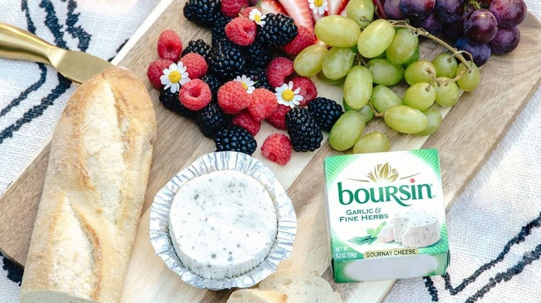 Summer cheese plate with Boursin