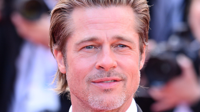 Actor Brad Pitt on red carpet