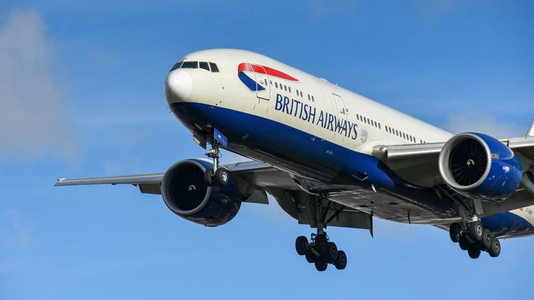 in-flight meal from British Airways