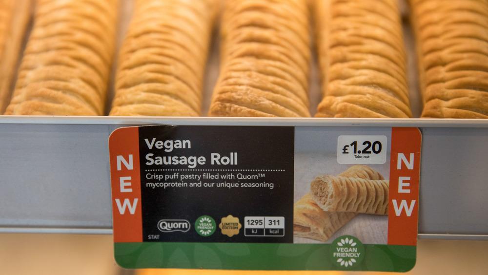 vegan sausage rolls in England