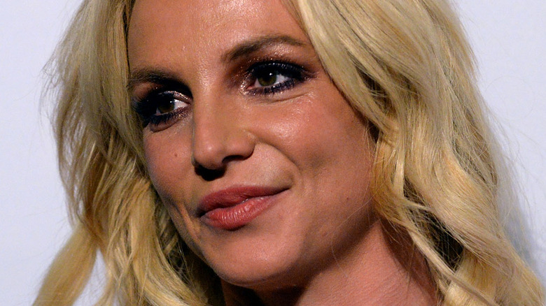 Close up of Britney Spears