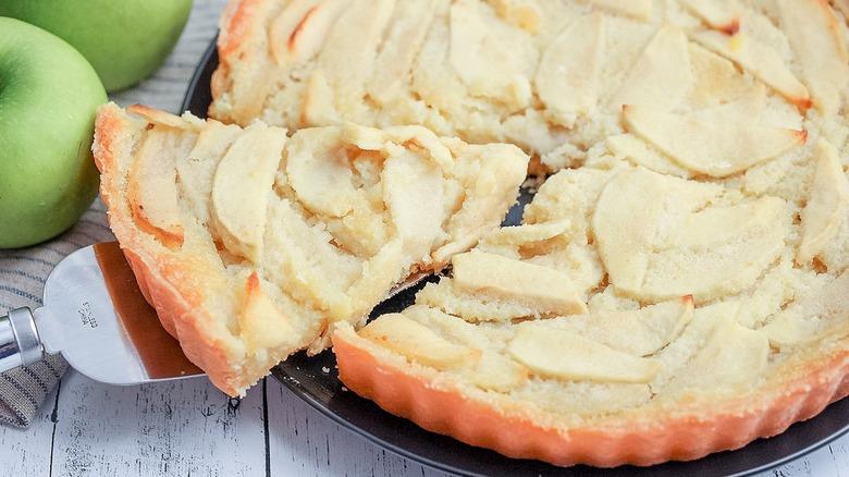 brown butter apple tart slice
