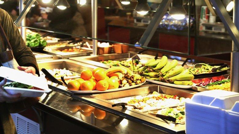buffet fruit and salad