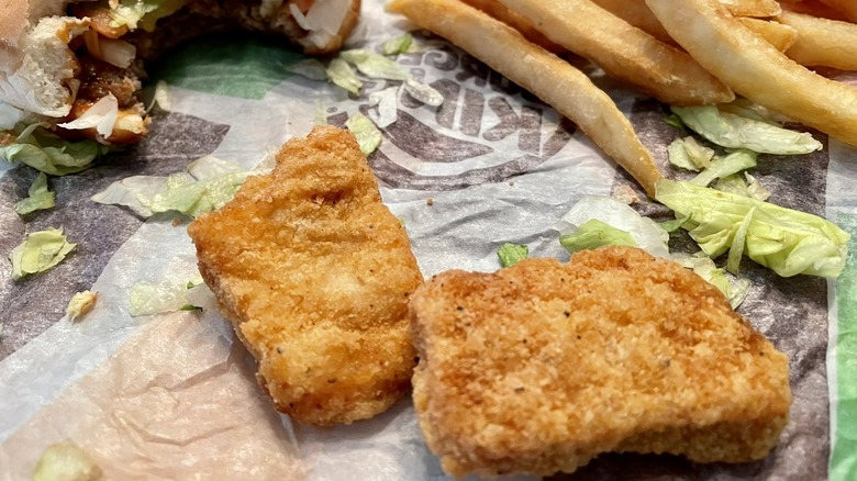 Burger King nuggets and fries