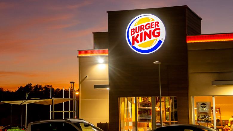 Burger King drive-thru at sunset