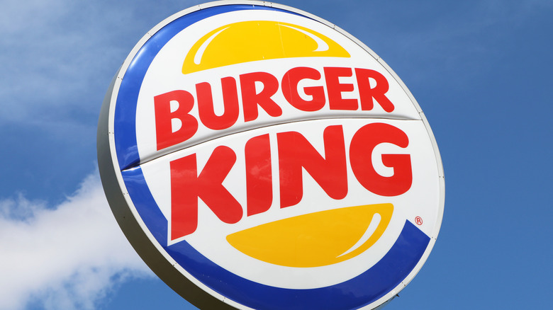 Burger King sign with blue sky