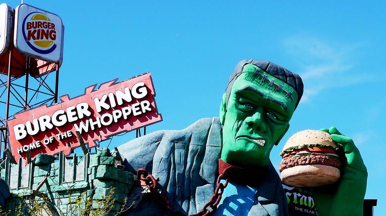 Frankenstein's monster eating whopper