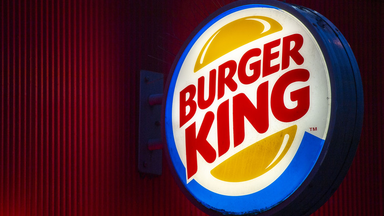 glowing burger king signage