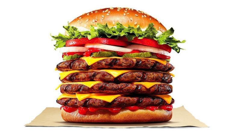 Burger King Korea Stacker 4 Whopper