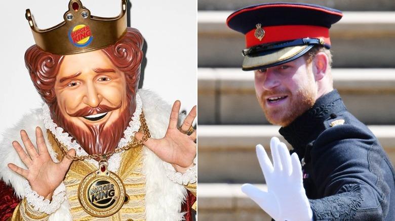 Burger King mascot and Prince Harry