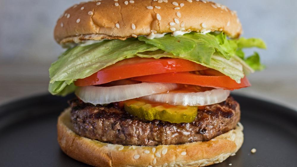 A copycat Burger King Whopper hamburger