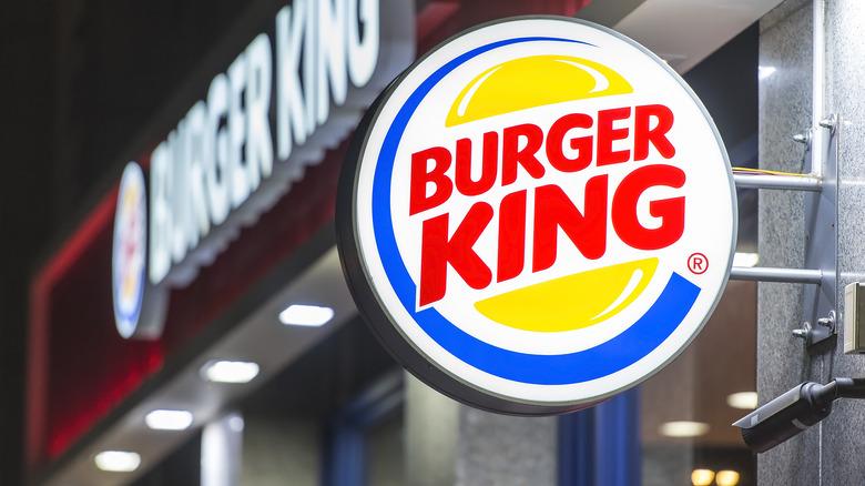 Close-up of Burger King sign