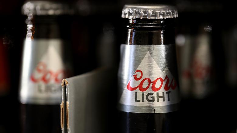 Coors Light beer bottles